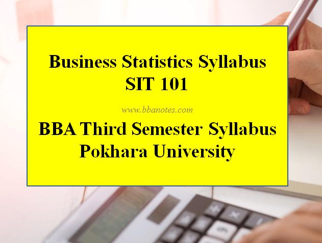 Business Statistics Syllabus