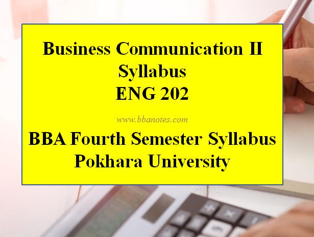 Business Communication II Syllabus