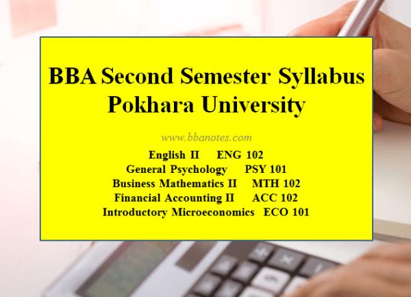 BBA Second Semester – BBA Syllabus |  Pokhara University