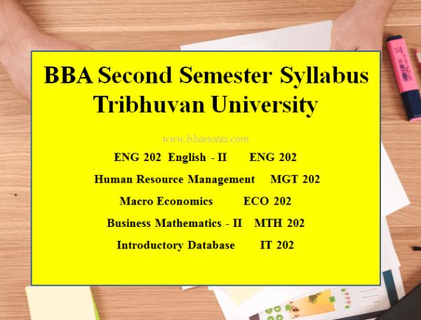 BBA Second Semester – BBA Syllabus |  Tribhuvan University