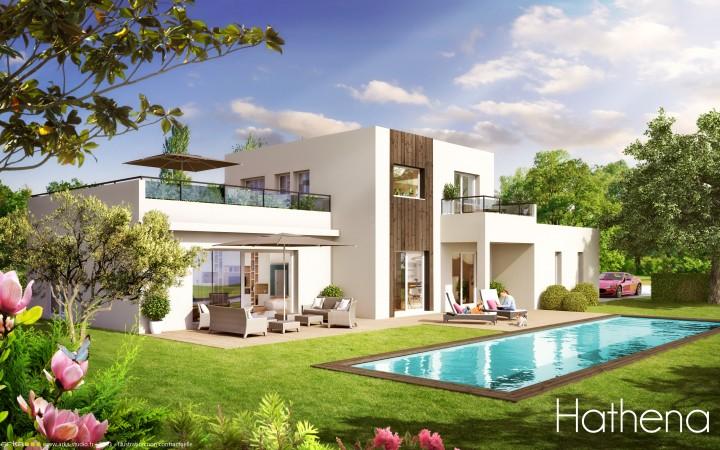 maison eco bois maison modulaire bois du ginkgo bois vergze ensemble de maisons en ossature. Black Bedroom Furniture Sets. Home Design Ideas