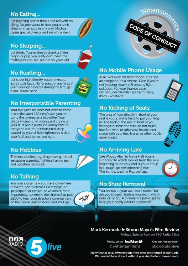 Wittertainment's Cinema Code of Conduct