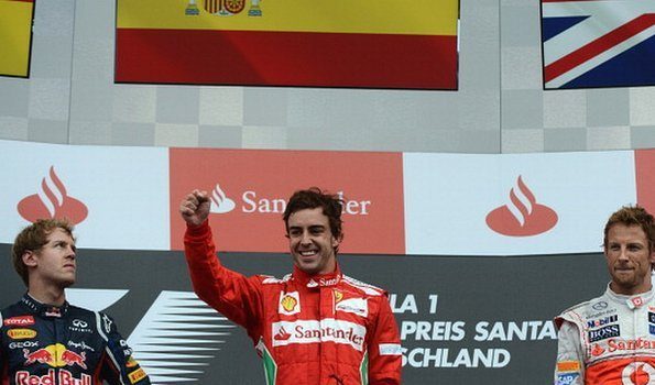 Fernando Alonso tops the podium in Hockenheim