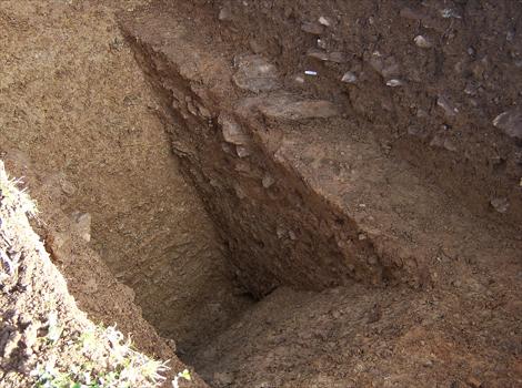 Foso romano en V, hallado en Calstock