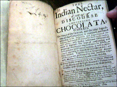 Book about chocolate.