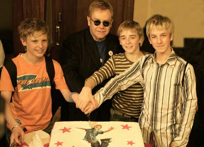 The boys with Elton John (Photo: David Scheinmann)