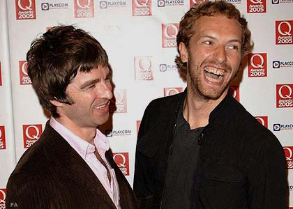 Noel Gallagher + Chris Martin