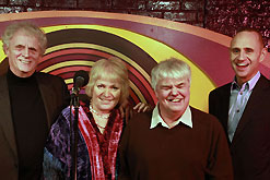 Laurie Taylor, Libby Purves, Peter White and Evan Davis try their hand at stand up comedy