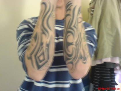 Mad pair of tattoos