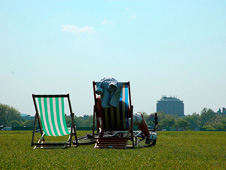 Sunny weather in Hyde Park, London