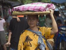 Woman in a market in Jakarta