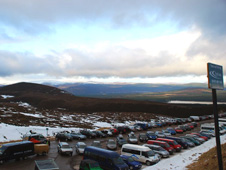 A car park in the Cairngorms National Park