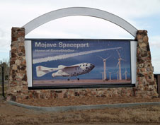 Entrance to the Mojave Air and Space Port in Mojave, California