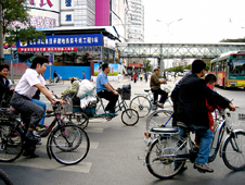 Cyclists in Beijing, China