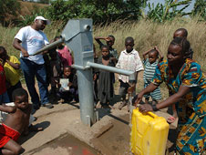 A water pump in Lulimba, DR Congo