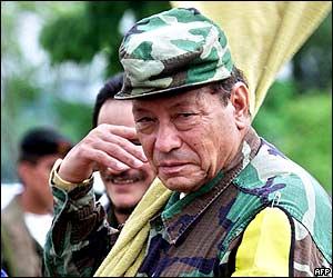 Manuel Marulanda Vélez, àlies Tirofijo, líder de la guerrilla comunista de les FARC-EP