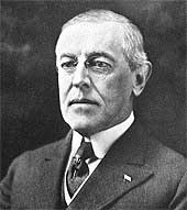 Photograph of Woodrow Wilson, President of the United States of America 1913-1921