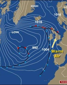 Tuesday   synoptic chart shows the british isles within  broad warm sector of very mild tropical also bbc weatherman ian fergusson blog rh