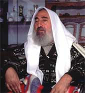 Portrait of Sheikh Ahmed Yassin, founder of Hamas