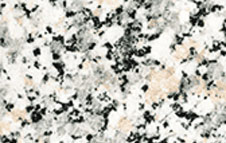 Granite has interlocking grains