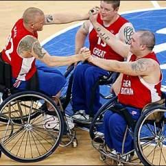 Wheelchair Olympics Lawn Chair Repair Bbc Sport Blog L R Great Britain S Andrew Blake Peter Finbow And Jon Pollock Celebrate Winning