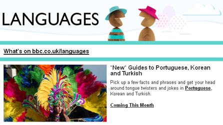 BBC Languages newsletter