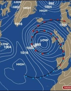 Tuesday   synoptic chart paints  distinctly wet and windy story also bbc weatherman ian fergusson blog rh