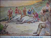 Old postcard illustration
