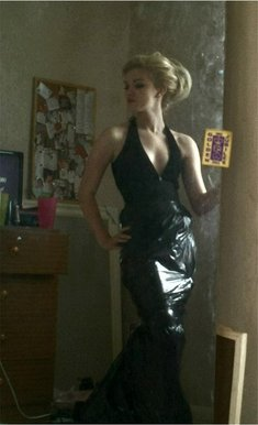 BBC  Blast Art  Design  Bin Bag Liner Low Cut Dress