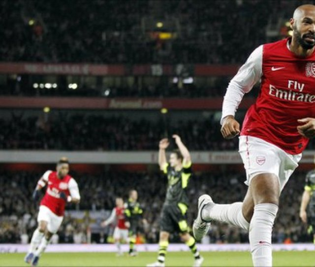 Thierry Henry Scored The Only Goal Of The Game Against Leeds United In The Fa Cup Third Round In A Dramatic Return To North London Photo Getty