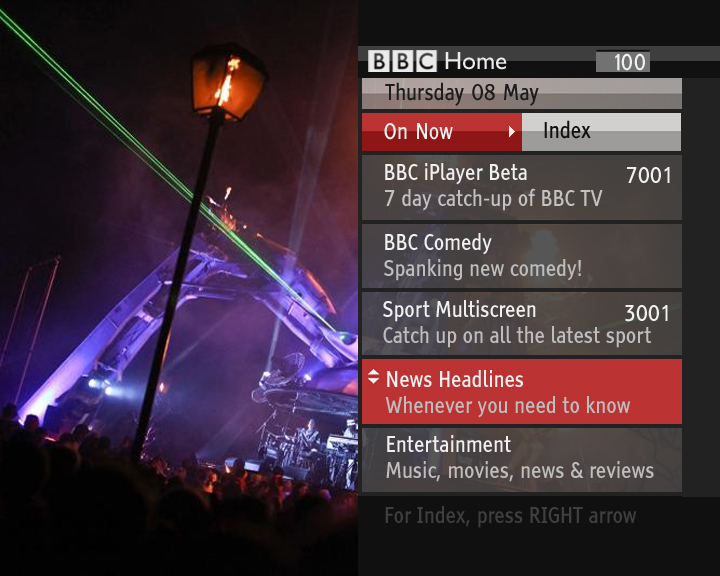 BBC  BBC Internet Blog New BBC Red Button Connected Homepage