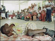 Niño con malaria