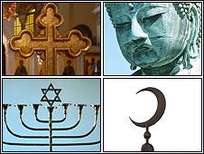 Representação de religiões (arquivo)