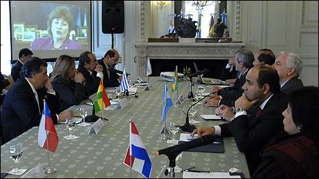 Ministros y funcionarios de Salud del Cono Sur