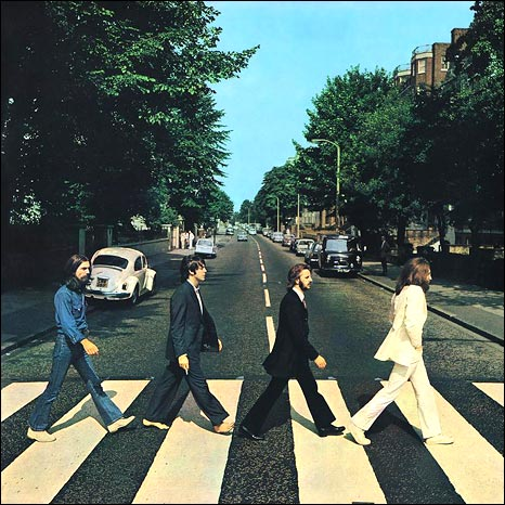 The Beatles album cover for Abbey Road (photo: Iain Macmillan)