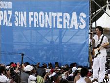 Juanes en concierto Paz sin Fronteras