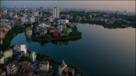 Hồ Trúc Bạch, Hà Nội (Ảnh của Getty Images)