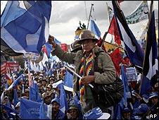 Simpatizantes de Evo Morales