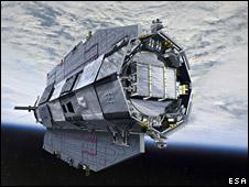 Ilustración artística del satélite Goce