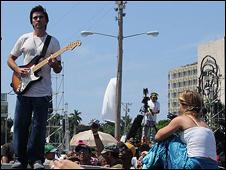 Juanes a la Plaça de la Revolució, l'Havana