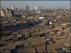 Favela em Mumbai na Índia