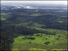 Vista aéra do rio Xingu