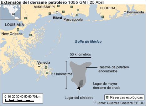 Mapa del derrame