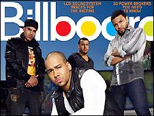 Tapa de la revista Billboard con el grupo Aventura