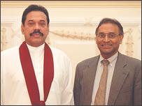 இலங்கை ஜனாதிபதியுடன் ஜயந்த தனபாலா