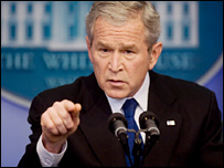Bush threatens to impose new sanctions on Burma