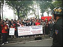 Cảnh biểu tình hôm 9/12/2007