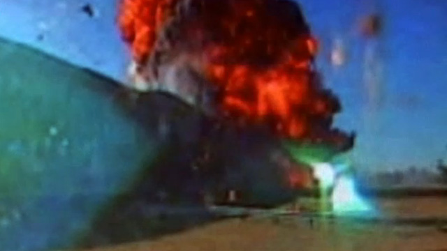 Hình ảnh American 77 đâm xuống Ngũ Giác Đài