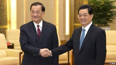 胡錦濤會見臺灣國民黨榮譽主席連戰 - BBC中文網 - 兩岸