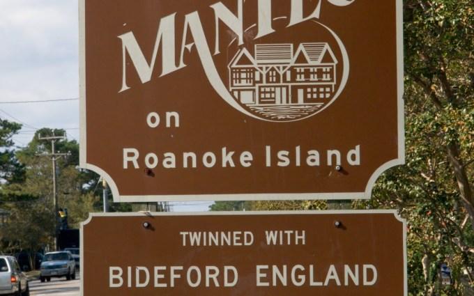 Bideford's Twin Town Manteo, North Carolina